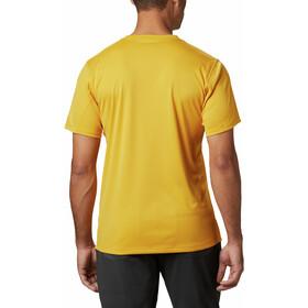 Columbia Zero Rules Camisa Manga Corta Hombre, bright gold